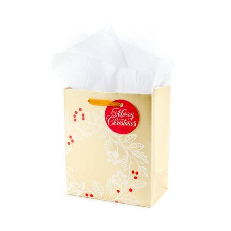 Hallmark Small Christmas Gift Bag with Tissue Paper (Wreath)](Christmas Tissue Paper)