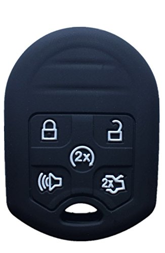 Car Remote Key Shell Black Replacement Remote Key Shell Protective Case for Ford Edge Explorer 2011-2015 B8