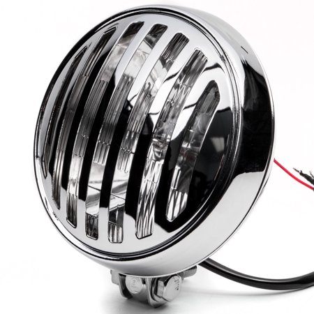 """Krator 6"""" Chrome Motorcycle Headlight with Grill High Low Beam Headlamp Bottom Mount for Harley Davidson Dyna Super Glide Sport - image 8 of 8"""