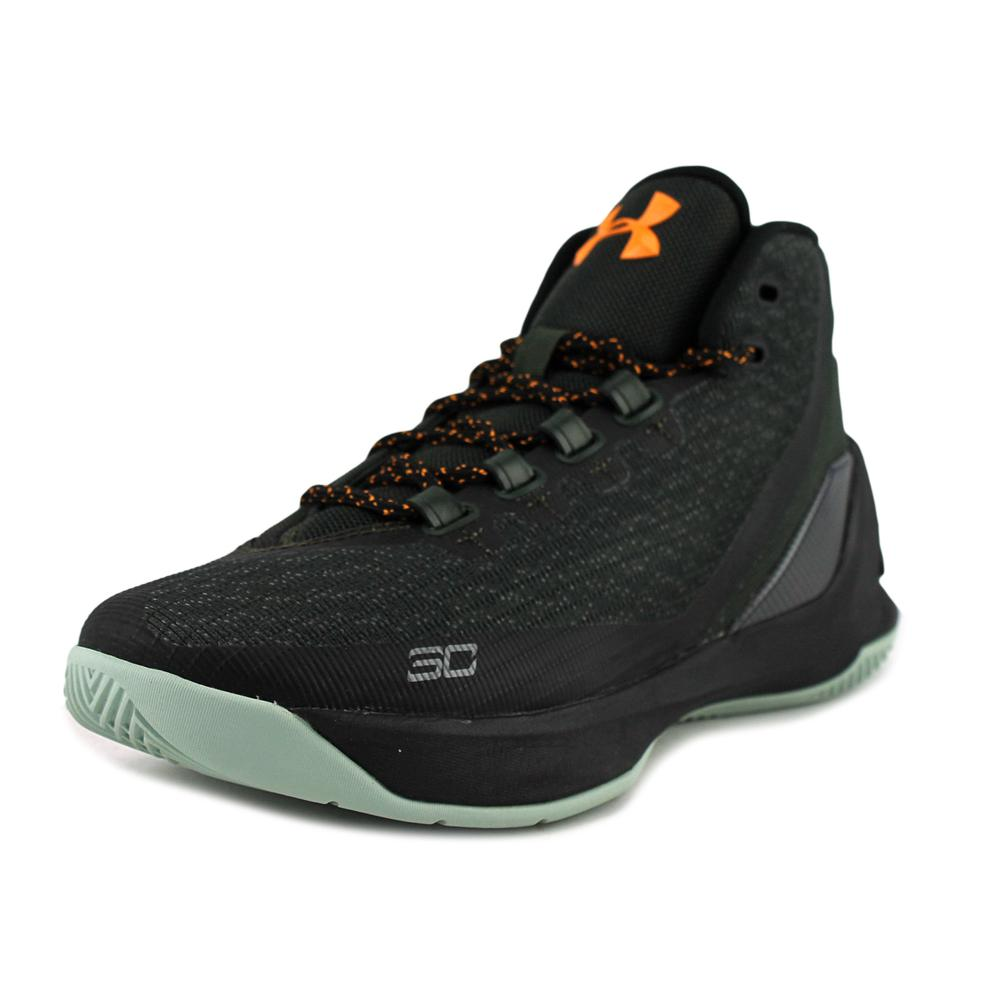 Under Armour GS Curry 3 Youth  Round Toe Canvas Black Bas...