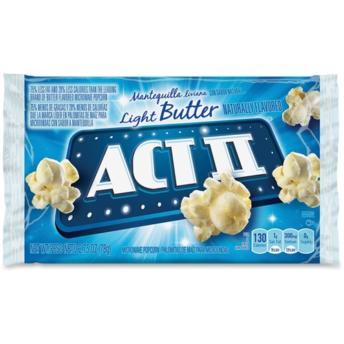 23243 Act II Microwave Popcorn - Microwavable - Light Butter - 2.75 oz - 36 / Carton