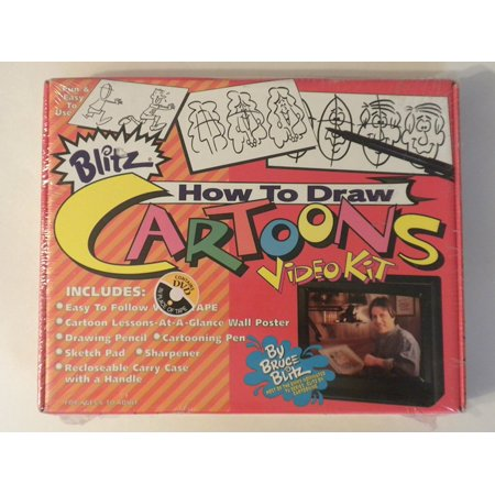 How to Draw Blitz Cartoons [VHS], Easy to Follow DVD By Format: VHS Tape
