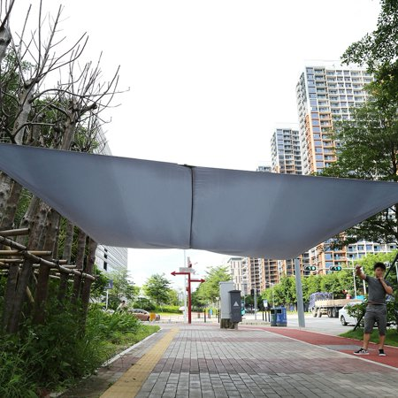 Ejoyous New Sand Sun Shade Sail Sunscreen Rectangle Polyester Awning Canopy Outdoor Garden Patio 3*4m , Garden Awning, Shade Canopy