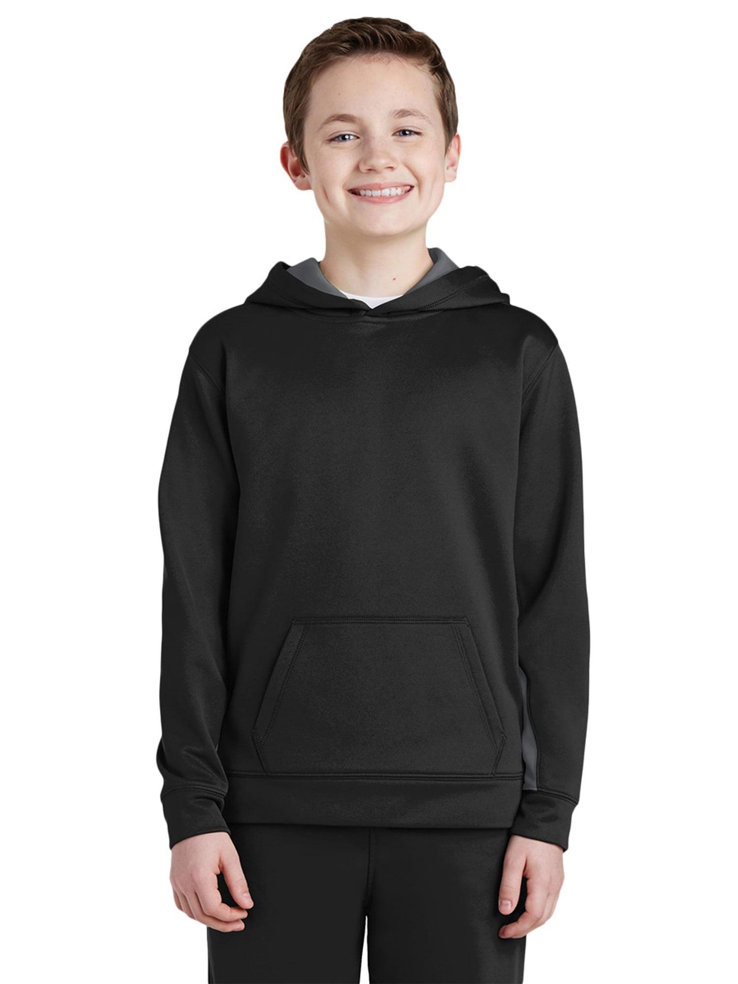 Sport-Tek Boy's Fleece Colorblock Hooded Pullover