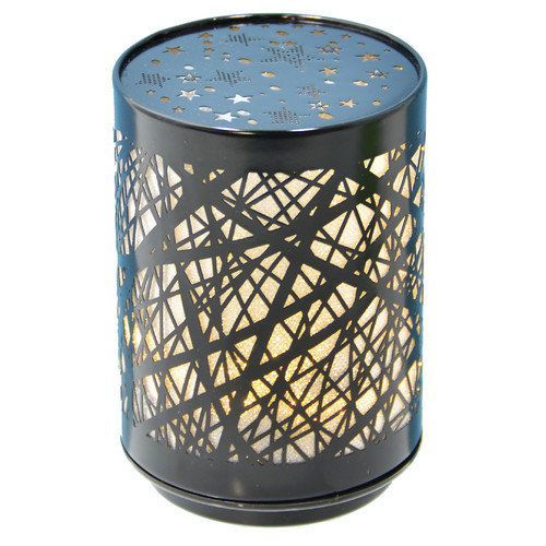 Fantastic Craft Push Birch 5'' H Table Lamp with Drum Shade