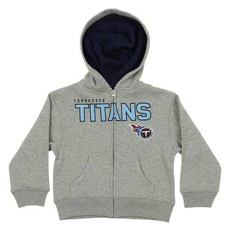 OuterStuff NFL Kids Tennessee Titans Stated Full-zip Fleece Hoodie, Gray