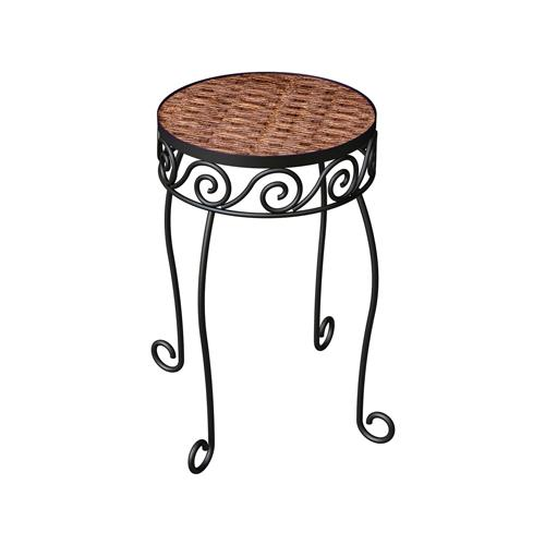 Panacea Products 82321 Metal Resin Wicker Plant Stand, 11.5-In. Quantity 1 by PANACEA PRODUCTS CORP