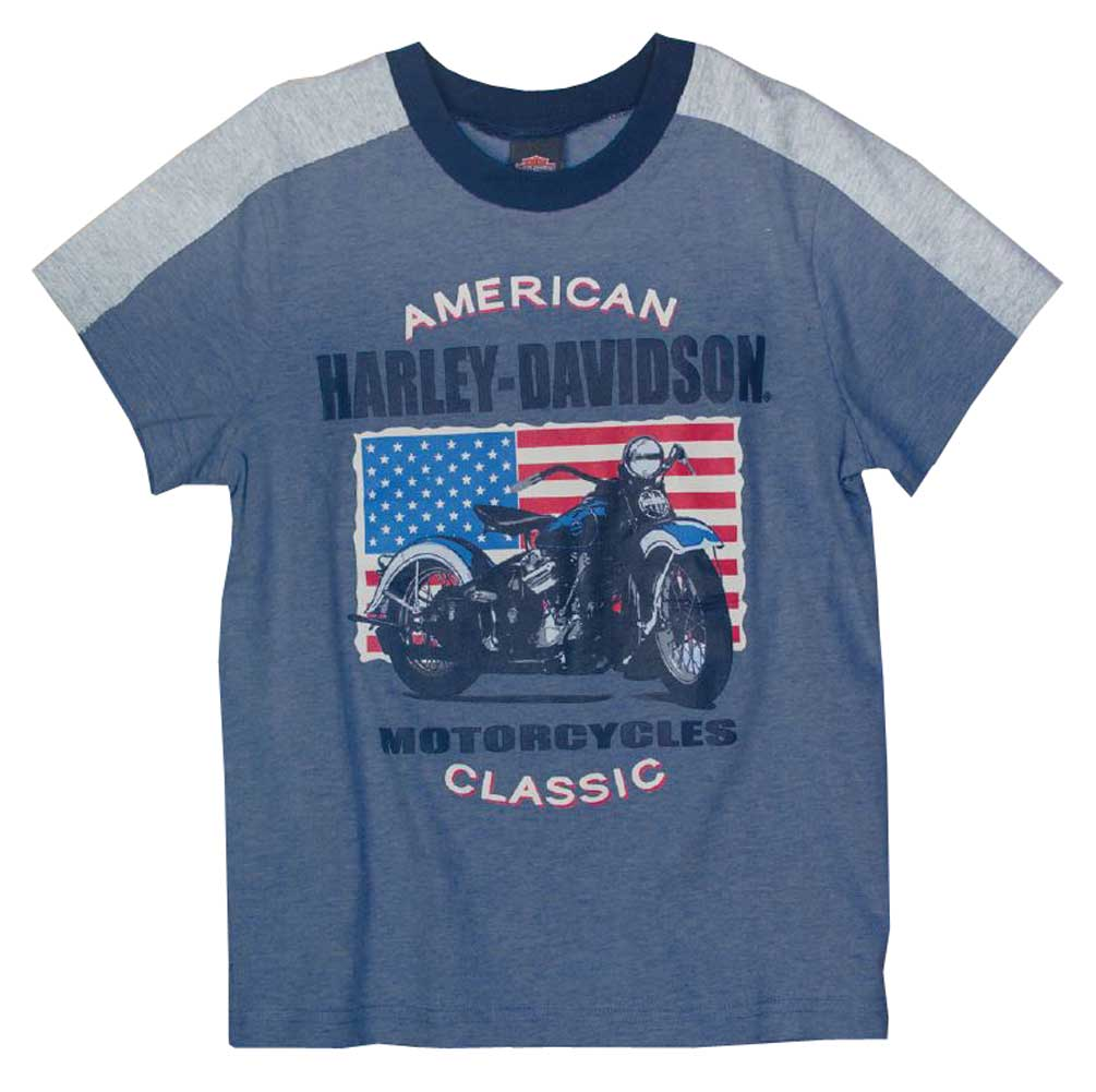 Harley-Davidson Little Boys' Patriotic Motorcycle Short Sleeve T-Shirt 1072661
