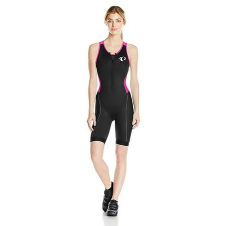 pearl izumi women's elite pursuit tri suit, black/screaming pink, (Womens Tri Wetsuits)