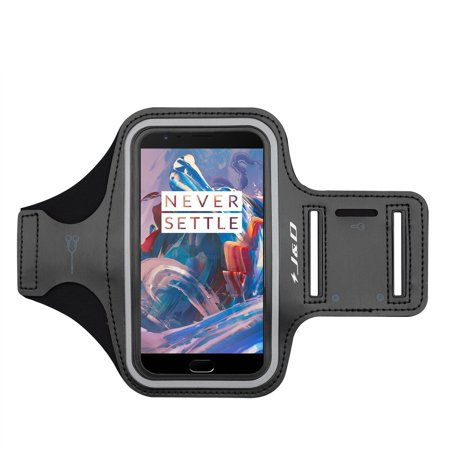 OnePlus 3 Armband, J&D Sports Armband for OnePlus 3, Key holder Slot, Perfect Earphone Connection while Workout Running – Black