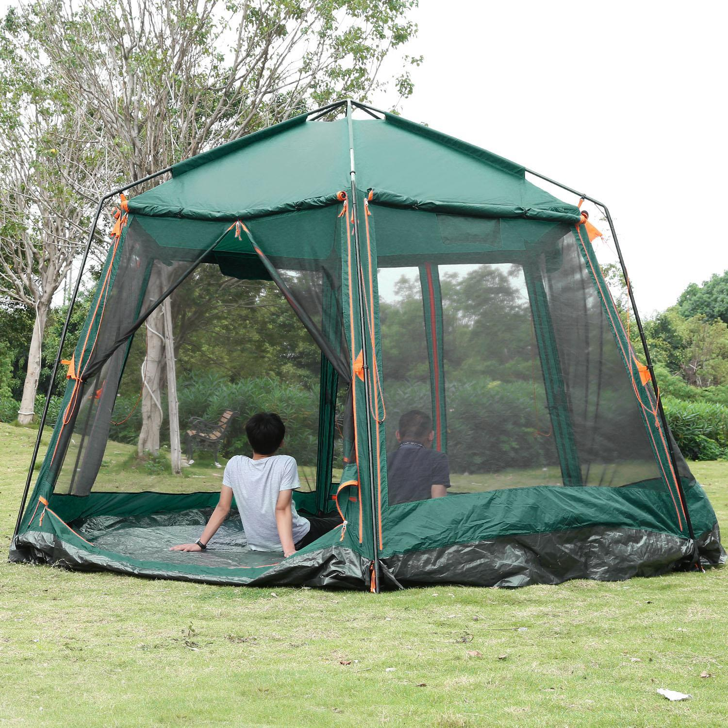 Click here to buy Clearence!Camping Hiking Tent Waterproof Family Cabin Tent Automatic Instant Tent for 8....