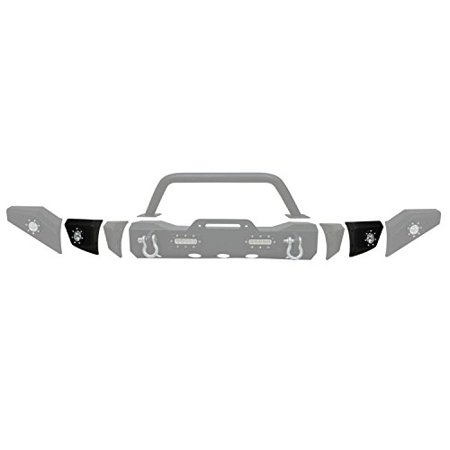 Paramount Restyling 51-0335-4 Black Jeep Wrangler JK Modular Front Bumper Bumper Black Jeep Wrangler