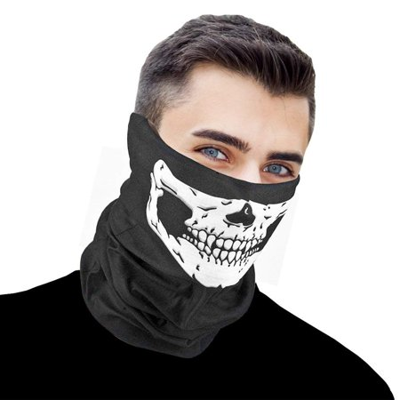 Skeleton Riding Mask (Skull Skeleton Scary Face Mask for Outdoor Sports and Bike)