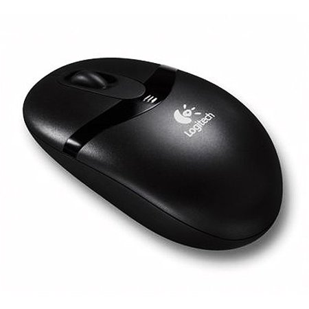 Logitech Cordless - Mouse - optical - 3 buttons - wireless - RF - USB / PS/2 wireless receiver - black (3 Button Mouse Logitech)