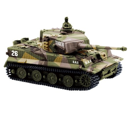 1:72 Radio Remote Control Mini Rc German Tiger I Panzer Tank with Sound