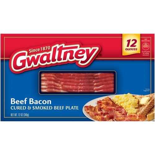 Gwaltney Beef Bacon, 12 oz