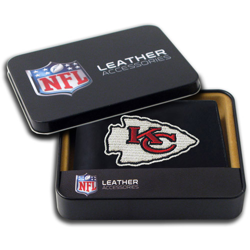 NFL - Men's Kansas City Chiefs Embroidered Billfold Wallet