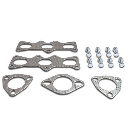 For 1993 to 1997 Ford Probe Mazda MX -6 2.5L V6 Aluminum Exhaust Manifold Header Gasket Set 94 95 96