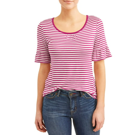 Rifle Sleeve (Women's Elbow Ruffle Sleeve T-Shirt )