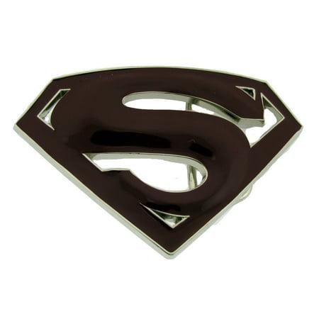 Superman Return Belt Buckle American Superhero Original Costume Burgundy Fashion