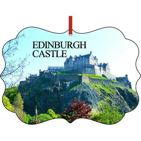 Christmas Ornaments Travel UK Scotland Edinburgh Castle Ornament Christmas Décor ()