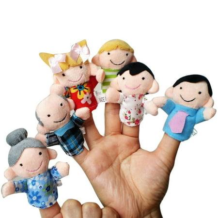 Iuhan 6 Pcs Finger Even Storytelling Good Toys Hand Puppet For Baby's Gift