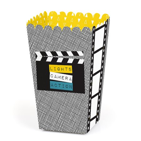 Movie - Hollywood Party Favor Popcorn Treat Boxes - Set of 12 - Hollywood Theme Party Favors