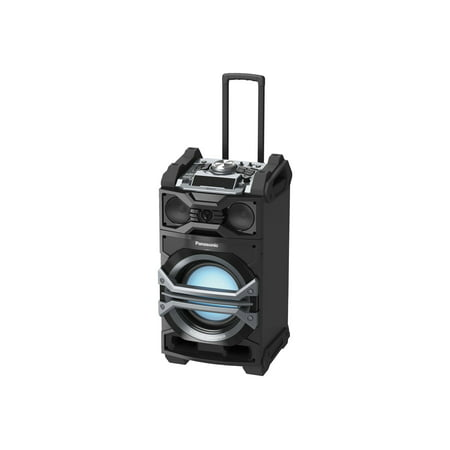 Panasonic Best in Class Portable 3-Way Giant Sound System SC-CMAX5 (Black) 1000W, USB/Bluetooth Music Play, Handle and Wheels for