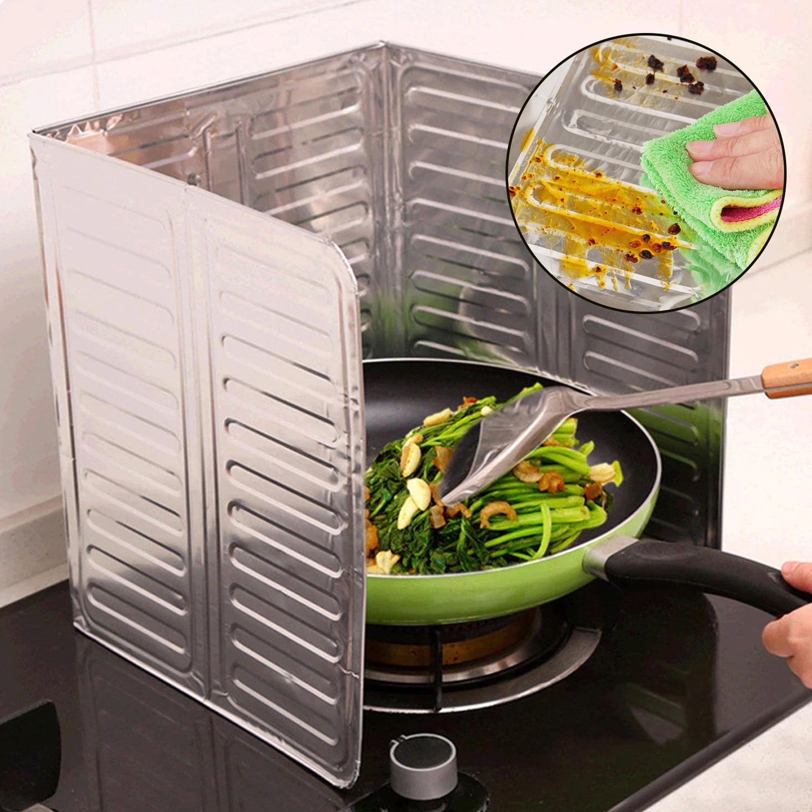 Oil Baffle Board Blue Kitchen Aluminum Cooking Anti Splatter Shield Cutlery Frying Pan Oil Splash Screen Cover