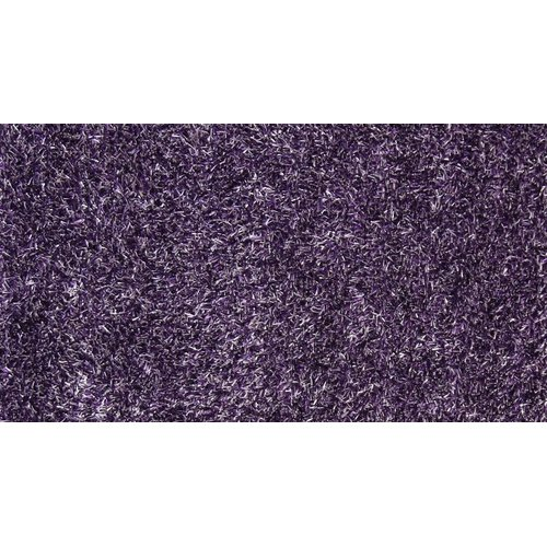 Isabelline One-of-a-Kind Riddick Shaggy Hand-Knotted 5' 3'' x 7' 7'' Dark Purple Area Rug