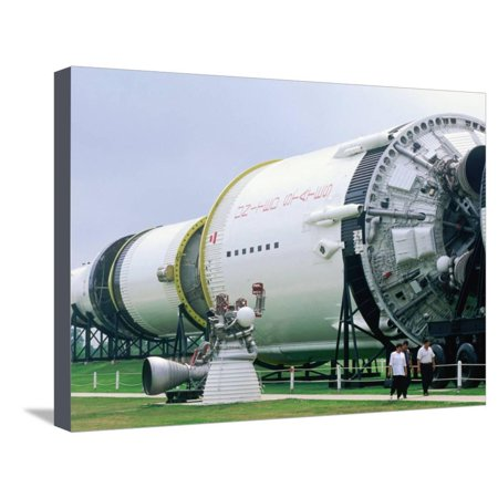 Saturn V Launch Vehicle, Johnson Space Center, Houston, Texas Stretched Canvas Print Wall Art By Holger Leue