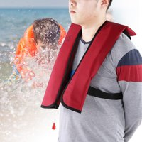 Fugacal  Automatic / Manual Inflatable Life Vest, Life Vest,Inflatable Life Saving Jacket Automatic/Manual Inflation Vest Swimming Flight Children