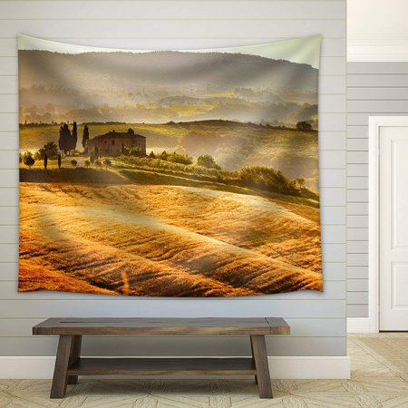 wall26 - View of Typical Tuscany Landscape - Fabric Wall Tapestry Home Decor - 51x60 inches