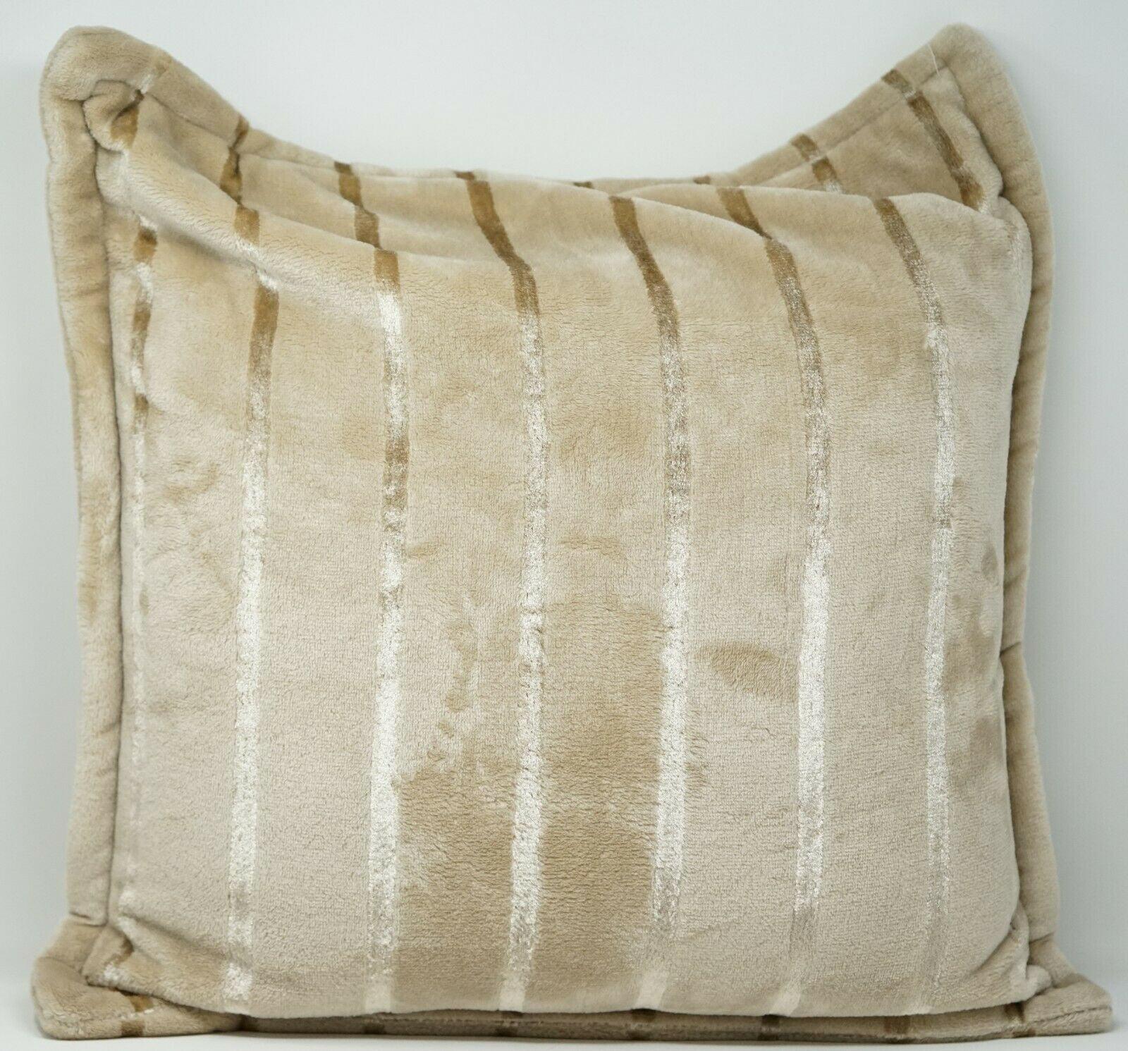 Charter Club Cozy Plush 20 Striped Zippered Decorative Throw Pillow Beige Walmart Com Walmart Com