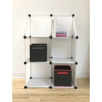Urban Shop Plastic Cube Shelving Storage Organizer