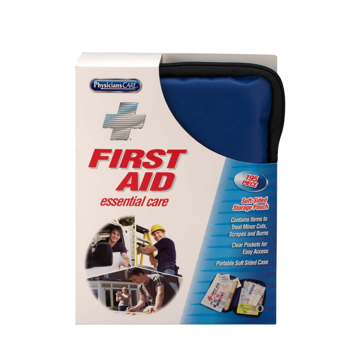First Aid Only Essential Care First Aid Kit, Fabric Case, 195 Pc
