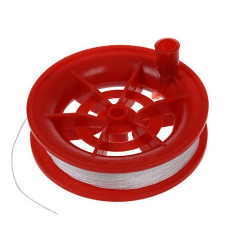 Spring Reels (Outtop 50M Twisted String Line Red Wheel Kite Reel Winder )