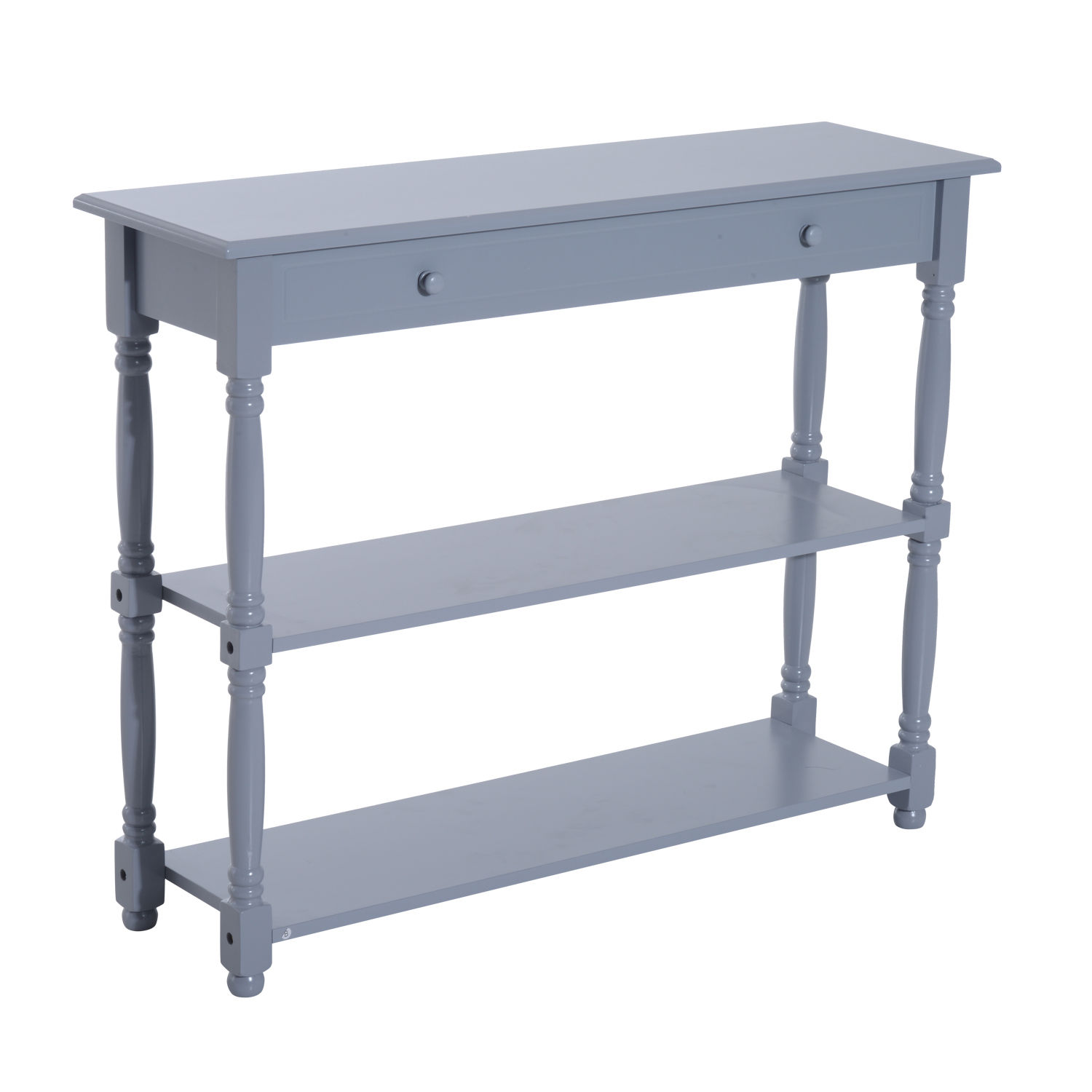 "HomCom 40"" Pine Wood Entryway Console Table - Gray"