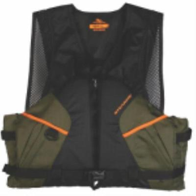Comfort Series Large Green With Orange Highlights Fishing Vest by