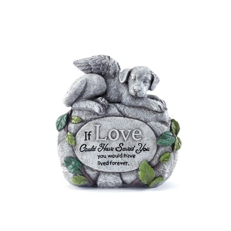 Dog Angel Rock Outdoor Pet Memorial Stone Beloved Pet Memorial Stone