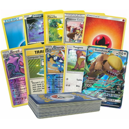 50 Pokemon Card Pack Lot - Featuring a GX and Pre Evolved Form of The GX! Rares, Foils and Basic Energy (Best Alola Form Pokemon)
