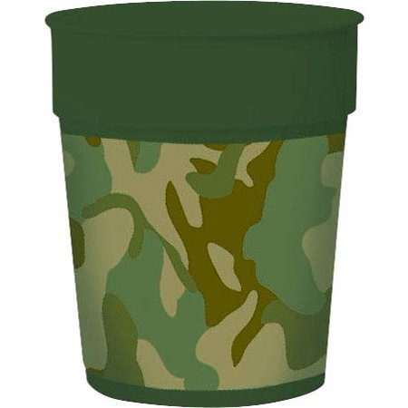 Army Camo 16Oz Favor Cup (Each) - Party Supplies - Camoflage Party Supplies