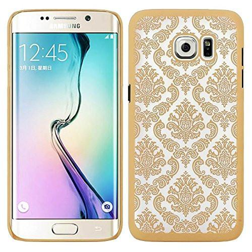 Ultra Slim Damask Vintage Case Cover compatile for Samsung Galaxy S6 Edge Plus Case - Gold