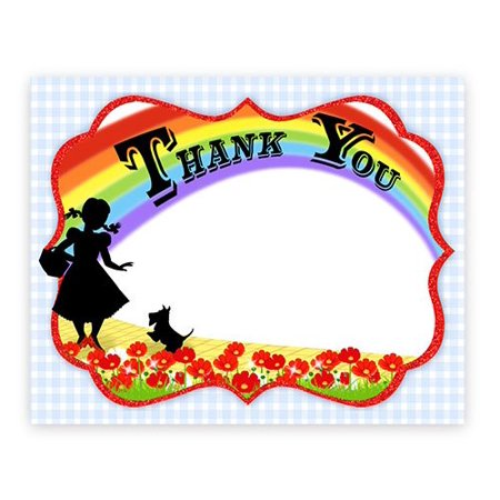 Wizard of Oz Thank You Cards - 10 Thank You Note Cards + 10 Envelopes (Wizard Of Oz Invitations)