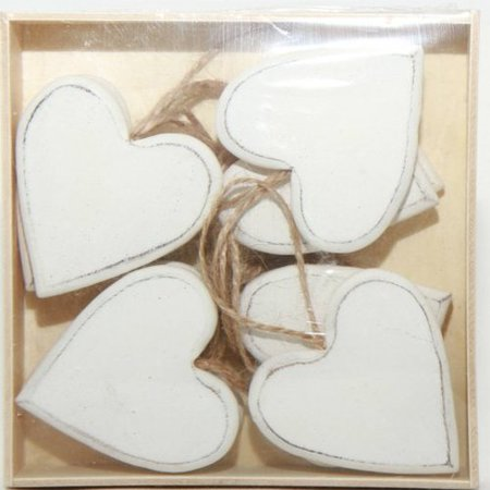 One Allium Way Wooden Hearts Shaped Ornament (Set of 12) - Heart Shaped Ornaments