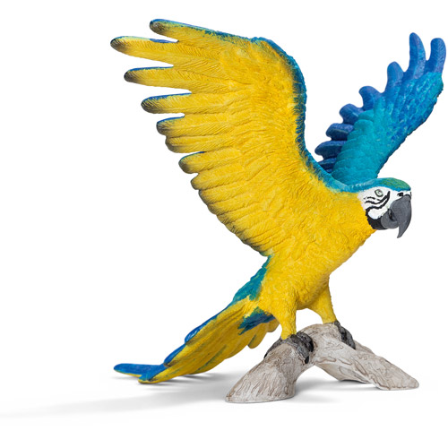 Schleich Blue-and-Yellow Macaw Figurine