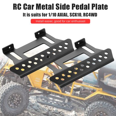 RC Car Metal Side Pedal Plate Side Step Sliders for 1/10 Scale Axial SCX10 RC Crawler Car
