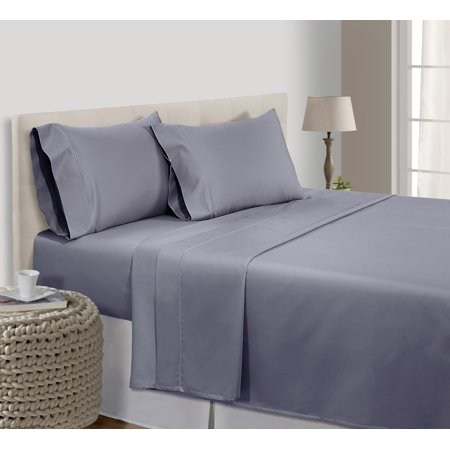 500 Thread Count 100% Pima Cotton Ultra Soft 4 piece Sheet Set , Cal King - (Houston Texans Sheet Set)