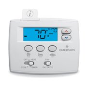 White-Rodgers 1F89EZ-0251 Classic White Non Programmable Heat Pump Digital Thermostat
