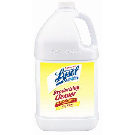 Professional Lysol Disinfectant Deodorizing Cleaner, Lemon, 128oz